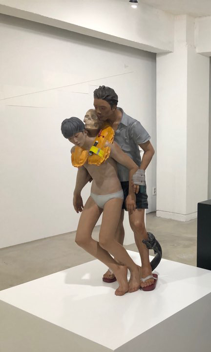 archipelago,acrylic on resin,30x30x80(cm),plinth 50x50x50(cm),2019.jpg